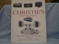 Christies  Leica Nikon and 35mm Cameras Catalogue -UNUSED-MINT- £6.99